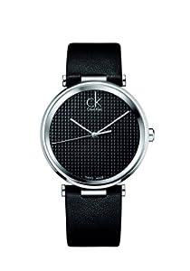 Calvin Klein K1S21102 - Reloj de cuarzo para hombre, con correa de cuero, color negro de Calvin Klein