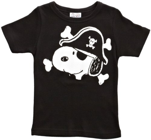 hirt Peanuts Snoopy Pirate, Schwarz, 104 (Erwachsenen Snoopy Kostüme)