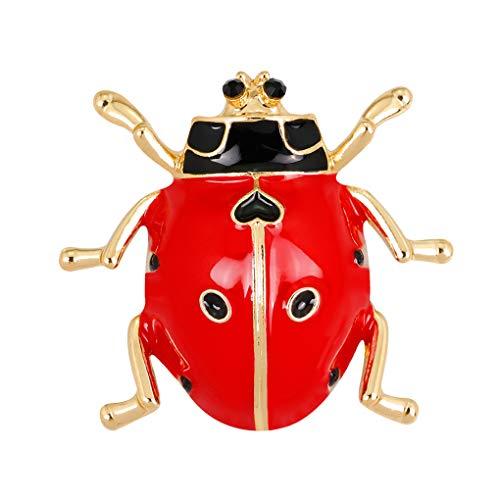 Bunte Marienkäfer Form Frauen Brosche Strass Legierung Pin Insekt Design Mädchen-Kleidung Breastpin Abzeichen (Mädchen-kleidung Speichern Kleine Zu)