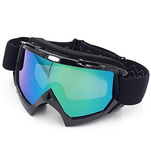 Spohife, occhiali da moto polarizzati, unisex, anti uv, antipolvere, anti graffio, antivento, occhiali sportivi per sci, ciclismo, arrampicata, motocicletta, sport all'aperto, full black