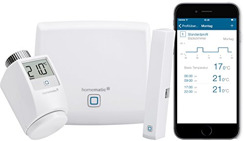Homematic IP Smart Home Starter Set Raumklima - Intelligente Heizungssteuerung per Smartphone