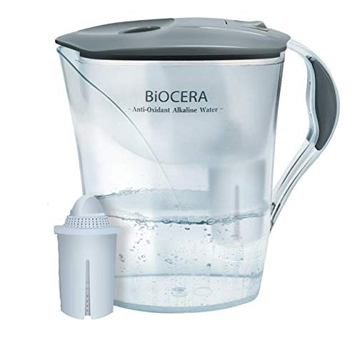 BIOCERA Alkaline Anti-Oxidant Jug Filter (Includes 1 Cartridge - Lasts 4000 liters)