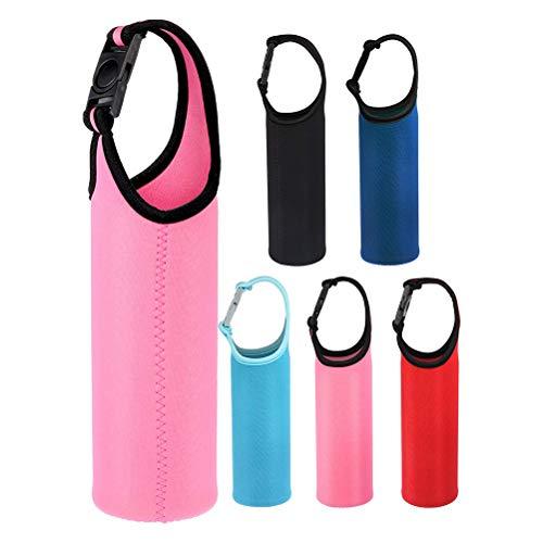 Wasserflaschen-Hülle Wärmeisolierende Isoliertasche Flaschenabdeckung mit Schnappverschluss 5 Stück Hitzebeständig Thermoskanne Glasflasche