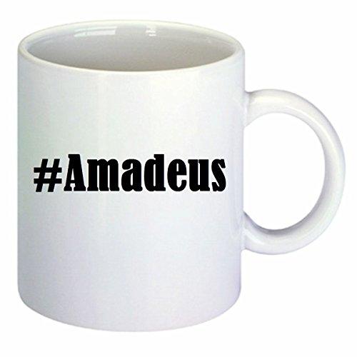 Kaffeetasse #Amadeus Hashtag Raute Keramik Höhe 9,5cm ? 8cm in Weiß