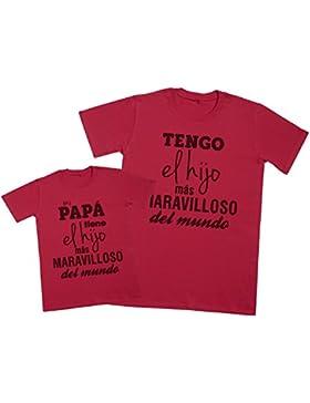 Zarlivia Clothing Mi Papá Tiene el Hijo - Regalo Para Padres e Hijos - Camiseta de Niño y Camiseta de Hombre