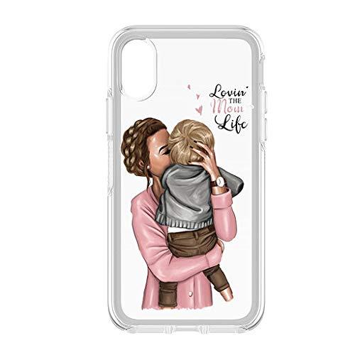 Festa della Mamma 4 Cover Smartphone Custodia per Tutti Modelli Apple iPhone Samsung Huawei 6 Idea Regalo super migliore mamma al...