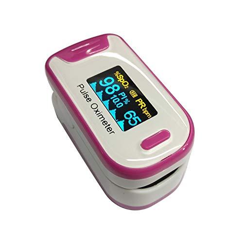 YUEHG Pulsioxímetro para Medir la Saturación de Oxígeno en la Sangre la Frecuencia Cardíaca Oxímetro con Pantalla OLED y Simple Operación de un Solo Toque,Pink