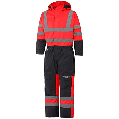 Helly Hansen Mens Alta Insulated Waterproof High-Vis Workwear Overall Mens Insulated Overalls
