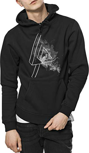 MERCHCODE Herren Linkin Park Logo Hoody Kapuzenpullover, Black, M - Band-konzert-tour-t-shirt