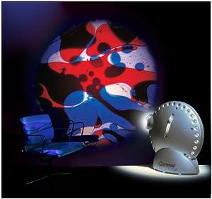 Mathmos Projektor, silberfarben, Rad mit blau-rotem Öl