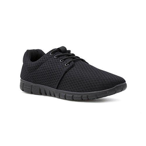 Tick Mens Black Mesh Lightweight Trainer - Size 13 UK - Black