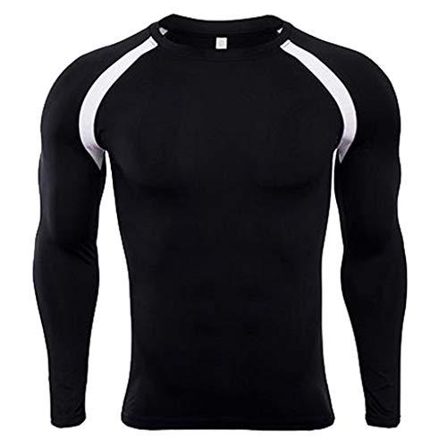JiaMeng Camiseta de Mangas largas de Fitness Rashguard Piel de...