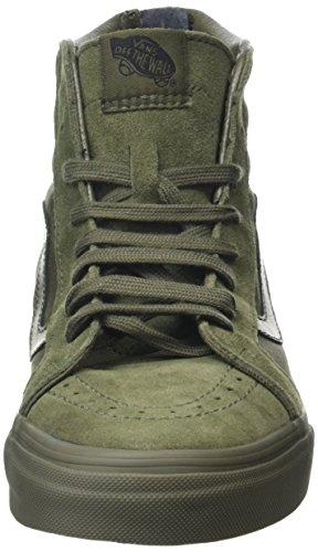 Vans Sk8-Hi Reissue Zip, Scarpe da Ginnastica Alte Unisex-Adulto Verde (Mono ivy green)