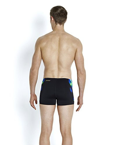 Speedo Herren X Placement Digital V Aquashorts Badehosen Black/Fluo Green/Deep Peri
