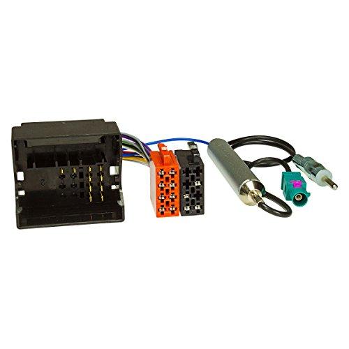 tomzz Audio 7008-002 Radio Adapter Kabel für Citroen ab 2004, Peugeot ab 2005 Quadlock auf ISO + Antennenadapter mit Phantomeinspeisung Fakra auf DIN