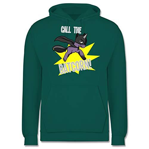Herren Batman Hoodie Mit Ohren - Shirtracer Einhörner - Call The Batcorn