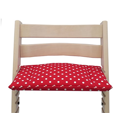 Blausberg Baby - Sitzkissen Kissen Polster (beschichtet) für Stokke Tripp Trapp Hochstuhl - Rot Punkte