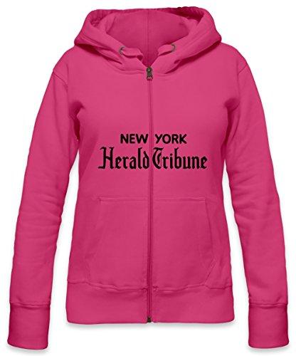 New York Herald Tribune Womens Zipper Hoodie X-Large