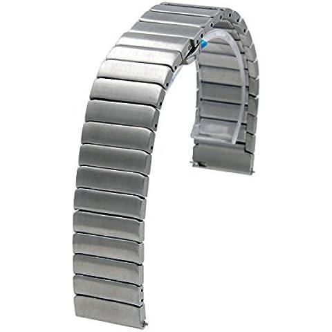 20mm liberación rápida de acero inoxidable hecha a mano de la venda de reloj de la correa con la mariposa Broche Para Samsung Gear S2 Classic platino plata