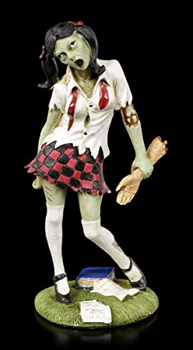 - Schulmädchen mit abgetrennten Arm | Fantasy Horror-Figur, handbemalt ()