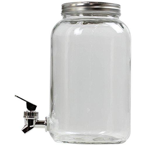 Claro Cristal dispensador De Bebidas con grifo 3L agua zumo jarra de l