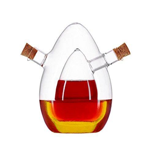 (Essig- und Öl-Spender aus Glas - 2in1- Karaffe - edles Design)