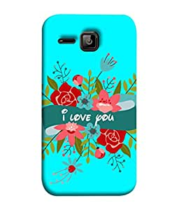 Fuson Designer Back Case Cover for Micromax Bolt S301 (Flowers Leaves Bouquets Sweetheart)