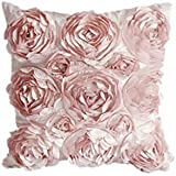 Funda Cubierta de Almohada Cojín Sofá Tiro Ropa Cama Diseño Flor Decoración - Rosa