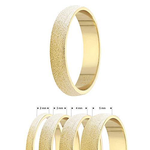 Ring - 925 Silber - 4 Breiten - Diamant - Gold [06.] - Breite: 2mm - Ringgröße: 54