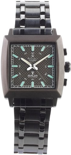St. Leonhard Herren Uhr Analog Solar mit Edelstahl Armband W600HF