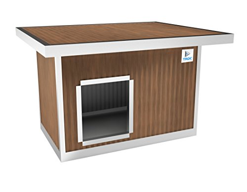 TRDC Hundehütte Isoliert Standard für den Außenbereich mit größten Dach (Adventure)