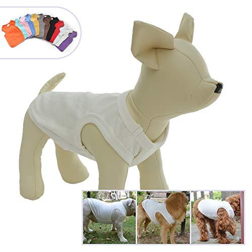 Lovelonglong 2019 Sommer-Haustierkleidung, Hundekleidung, Leere T-Shirts, gerippte Tanks Top Thread Westen für Bulldogge, große mittelgroße kleine Hunde, 100% Baumwolle - Top Thread