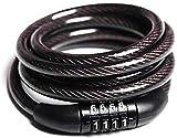 Multipurpose 4 Digit Numeric Cable Bicycle/Bike,Helmet Lock (Black Pack of 1) for Avenger