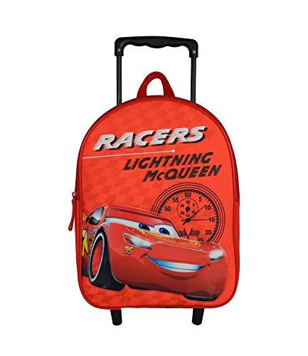 Sac à dos à roulettes 31cm Cars McQueen Rouge Disney