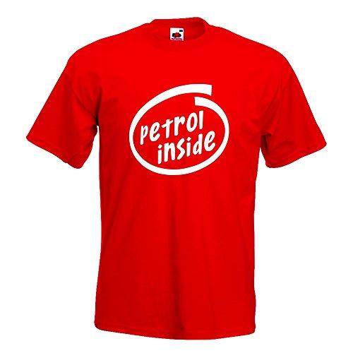 KIWISTAR - petrol inside Auto T-Shirt in 15 verschiedenen Farben - Herren Funshirt bedruckt Design Sprüche Spruch Motive Oberteil Baumwolle Print Größe S M L XL XXL Rot