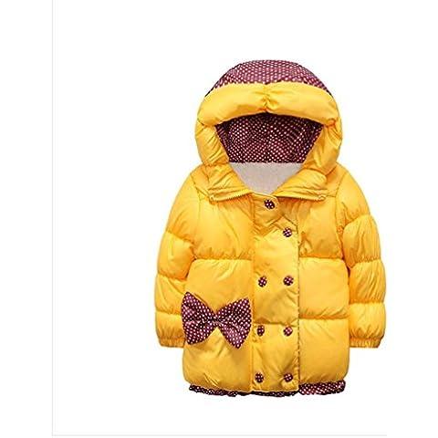 Tefamore El abrigo de la chaqueta de las sudaderas con capucha algodón-acolchada caliente del invierno Outwear embroma a las niñas de los
