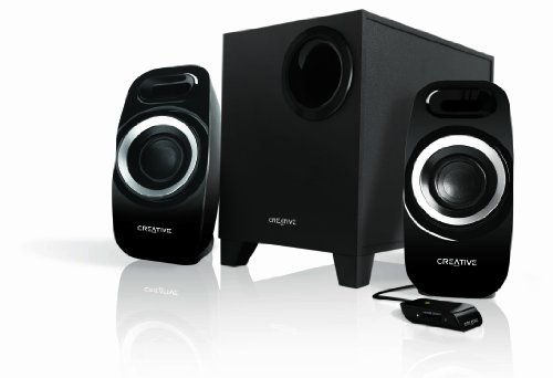 Creative Inspire T3300 (2.1) High performance Speaker System with Down Firing Ported Subwoofer and Wired Remote Control