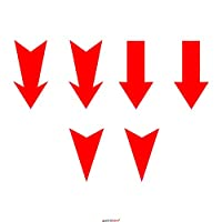 Autodomy Arrows Hook Trailer Tow Rally Racing Motorsport Stickers Pack 6 Units for Car (Red)