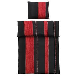 Bettwäsche 200200 Schwarz Rot Günstig Online Kaufen Dein Möbelhaus