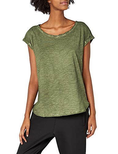 Urban Classics Damen Ladies Long Back Shaped Spray Dye Tee T-Shirt, Grün (olive 176), X-Large -