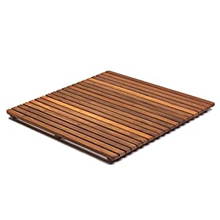 Asinox TEK4A6161 Shower Duckboard Brown Wood 61 x 61 x 4 cm