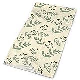 Hectwya Handbands Green Flower UV Face Shield Indossato 12+ Modi Come Avvolgere la Testa, ghetta per Il Collo, Archetto, Visiera, Bandana, Passamontagna