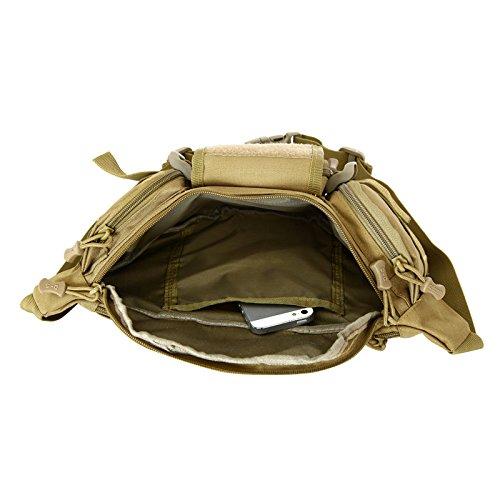 &zhou Kleine Taschen-Tourismus für Verwendung im freien Männer und Frauen kombiniert Geldbörsen Bewegung Schulter Umhängetasche Black