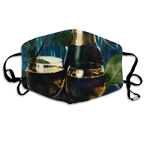 Gold Dust Kostüm - liang4268 Mundmasken Gift Wine Fashion Earloop Face Masks Anti-Dust Anti Flu Pollenm Germs Bacteria Virus Smog Face and Nose Cover with Adjustable Elastic Strap Medical Mask