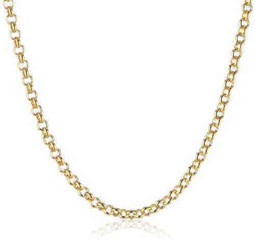 Erbskette 925er-Sterlingsilber gelbvergoldet 60 cm