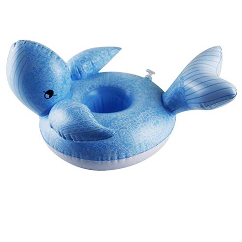 FTFSY Animal Fruit Series Inflatable Water Coaster Floating Drink Cup Holder Pool Party Inflatable Drink Floats Inflatable Cup Holder,Navy Blue Navy Coaster