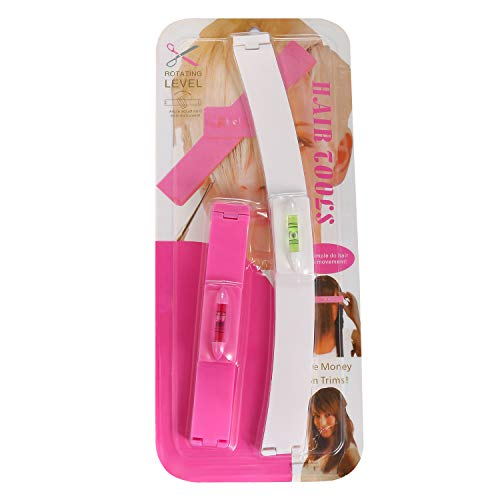 1 par de pinzas de pelo de ayuda - Kit de herramientas de corte de pelo profesional, color rosa, clip de pelo de corte DIY
