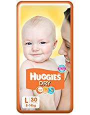 Huggies New Dry Large Size Diapers, 30 Count