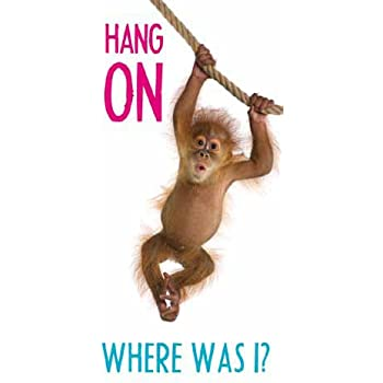 Monkey - Hang On - Magnetic Bookmark by WPL