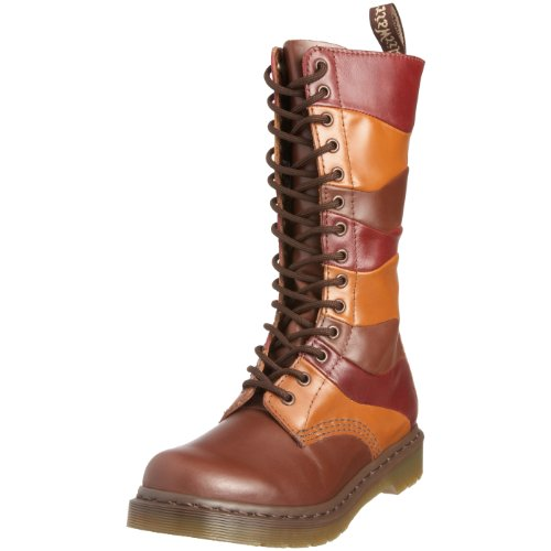 Dr. Martens - Bottes Sans Fermeture, Femme Brune (dark Brown / Tan / Shiraz)
